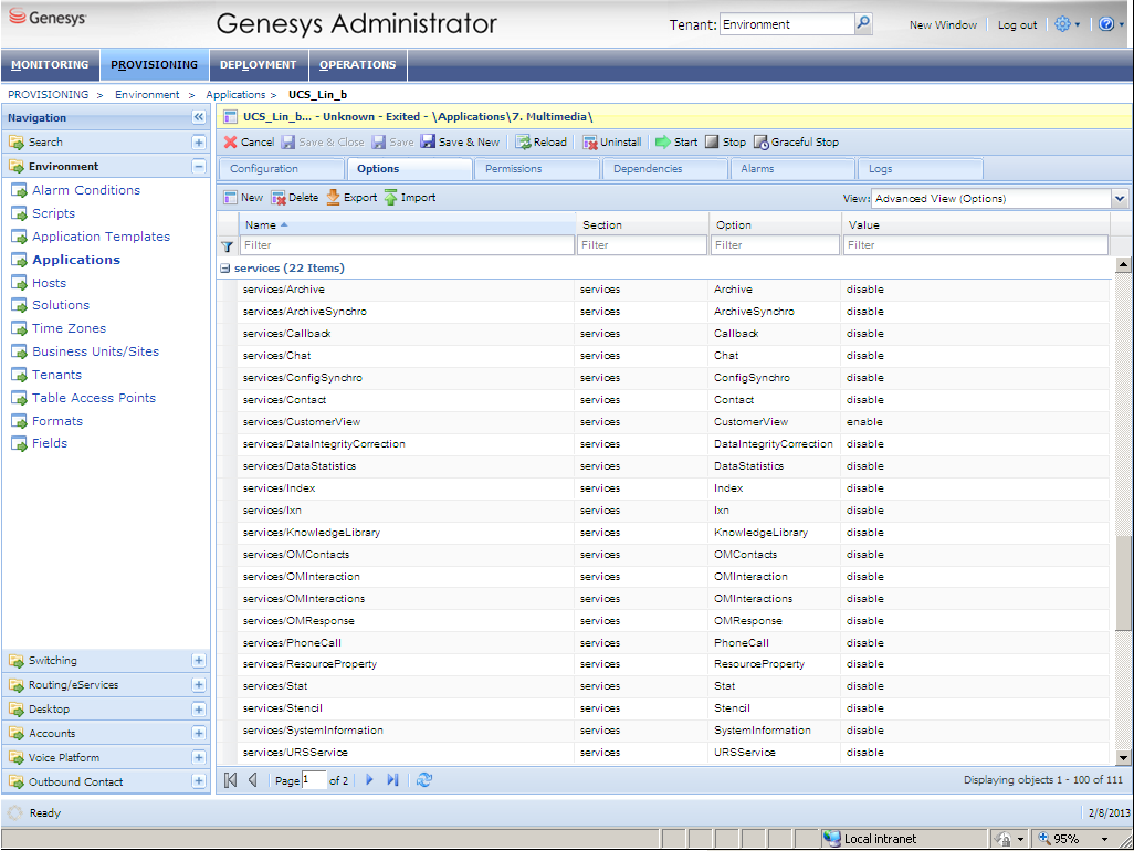 Load balancing configuration in Genesys Administrator