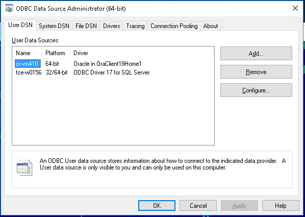 Migrating to ODBC from DB Server (8 5 3 Only)