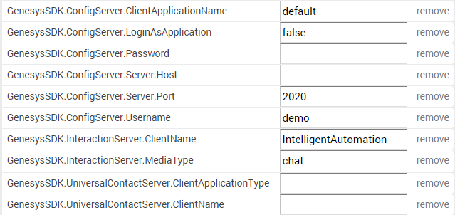 Default Server Settings for Apple Business Chat