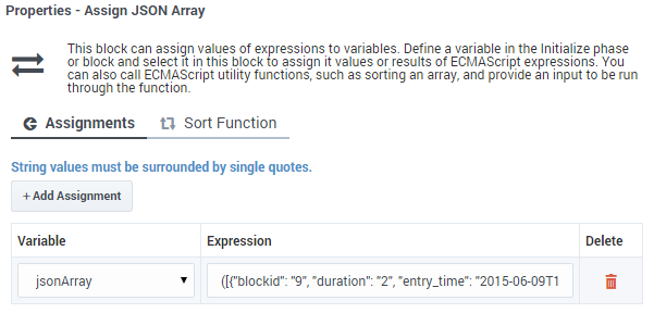 Assign Variables Block