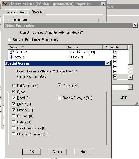 Security Settings in Configuration Manager for Metric Manager Users