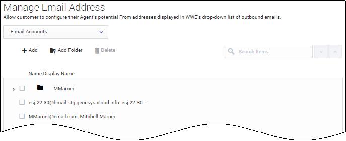 Manage Email Addresses