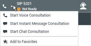 Chat Consultation menu