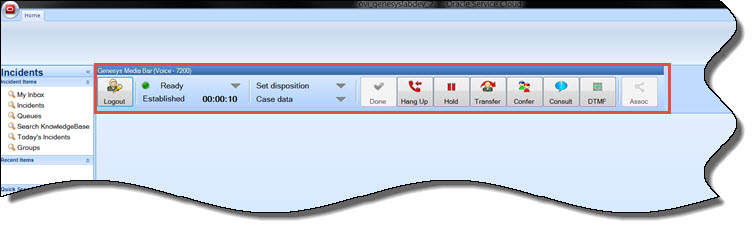 Image of the Genesys Media Toolbar