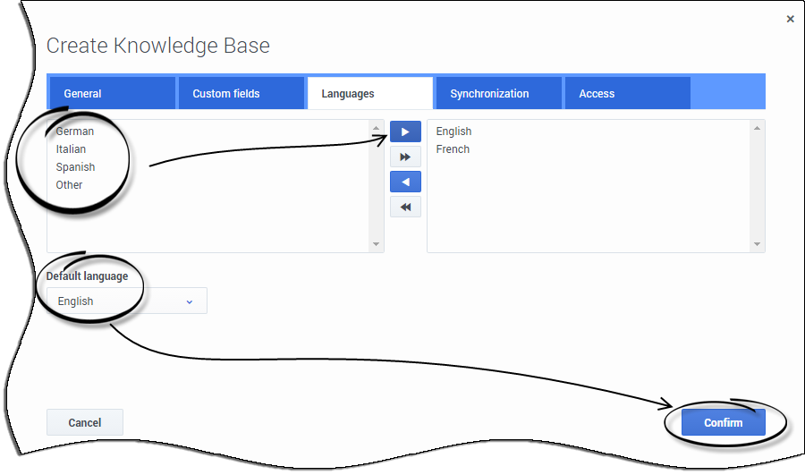 CreateKnowledgeBase LanguagesCLOUD.png